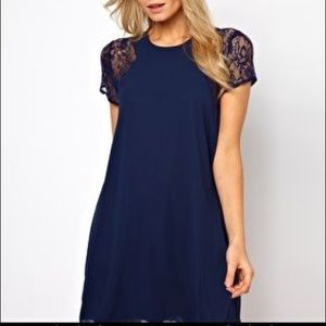 Love swing dress with lace insert from ASOS